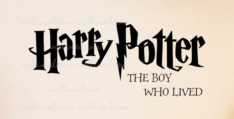 Harry Potter The Boy Who Lived - Wall Decal Quote