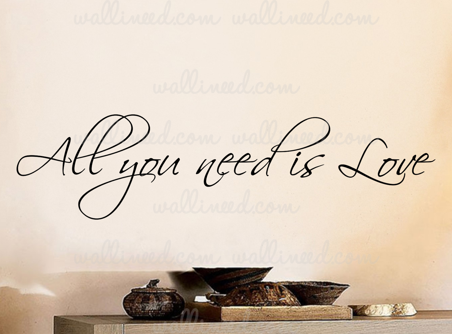 All You Need Is Love Wall Decal Vinyl Art Quote Sticker