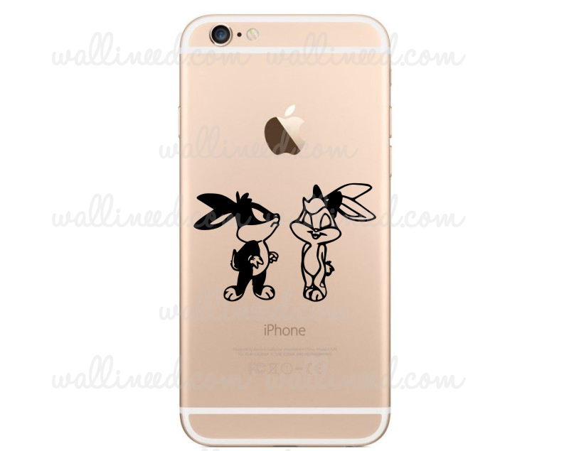 Iphone 6 sticker bugs bunny and lola bunny kiss