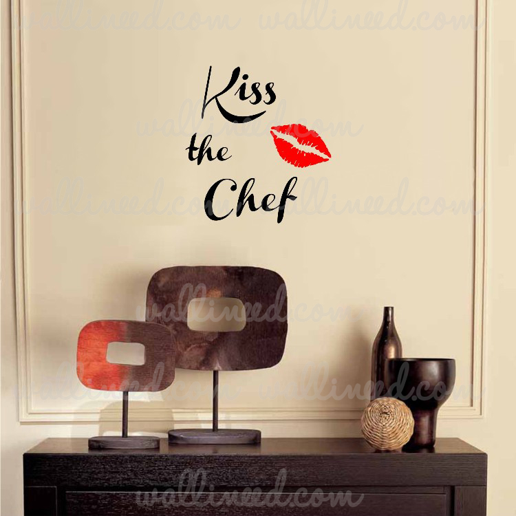 & Kiss The Chef - Kitchen Wall Decal